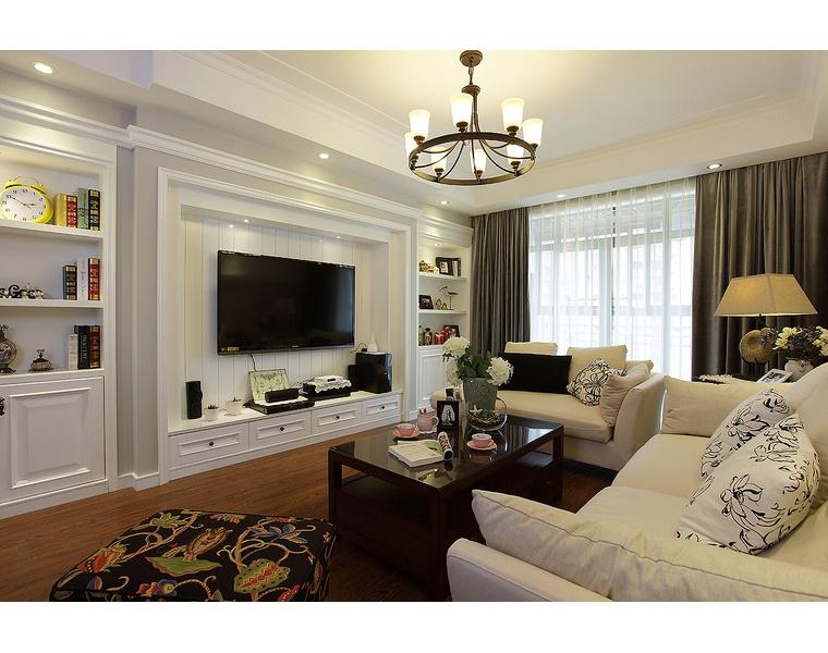 客厅石膏线电视背景墙装修效果图大全