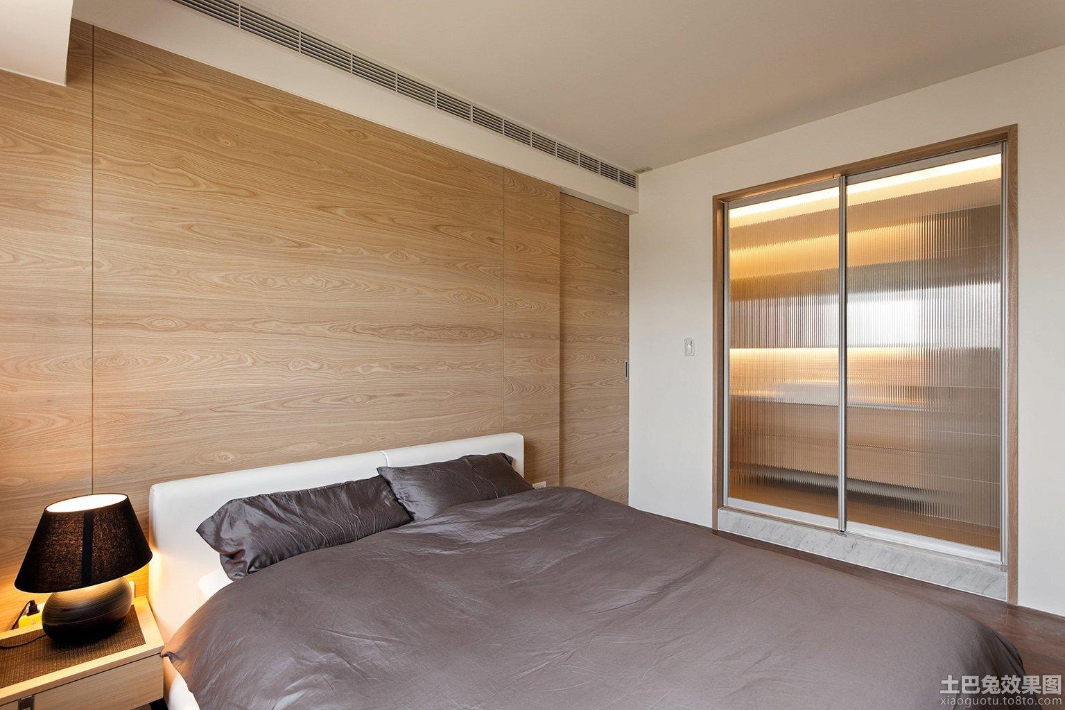 卧室墙面实木背景墙效果图 - 装修效果图 - 九正家居网