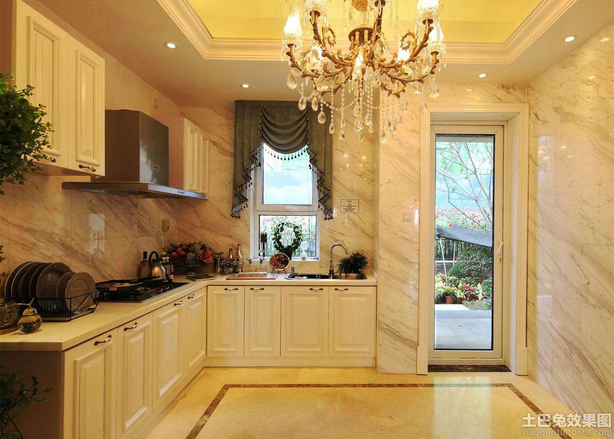 简欧风格厨房装修效果图片欣赏图片