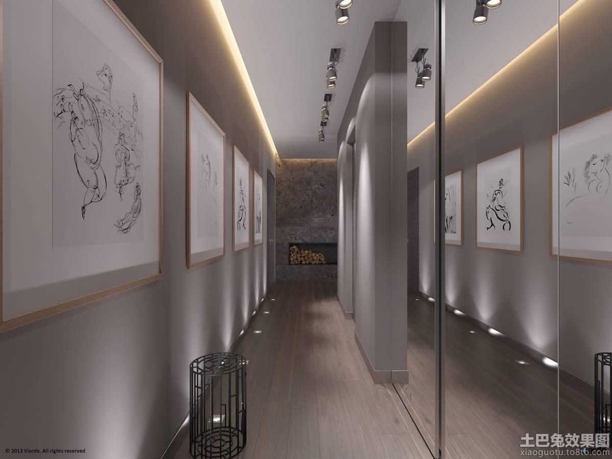 现代风格过道墙面装饰设计效果图