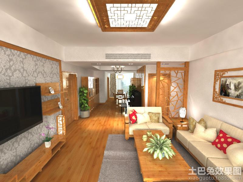 新中式上海房屋客厅装修图片