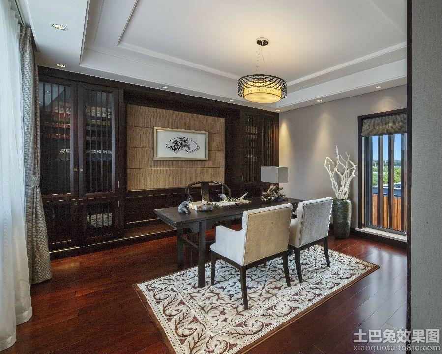 新中式风格书房装修图片