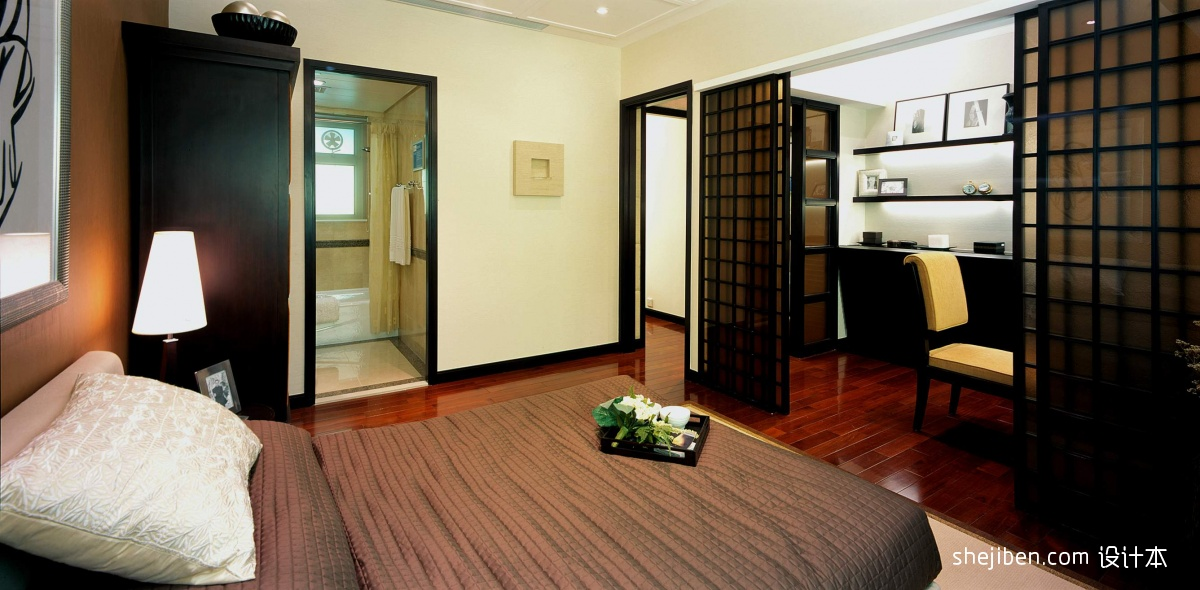中式家装卧室效果图 - 装修效果图 - 九正家居网图片