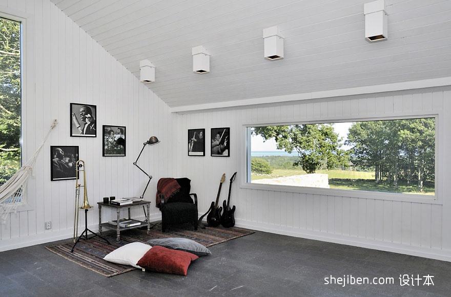 2013现代风格别墅墙斜顶窗户装修效果图片