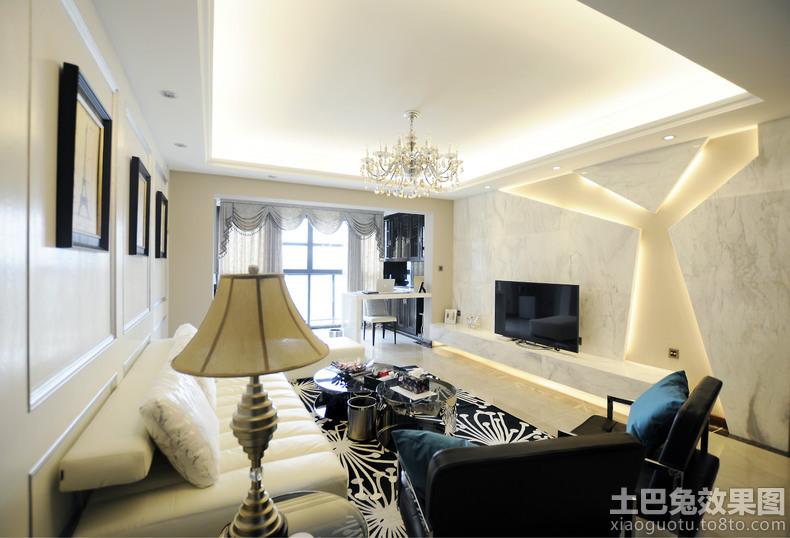 欧式风格两室一厅客厅装修效果图欣赏