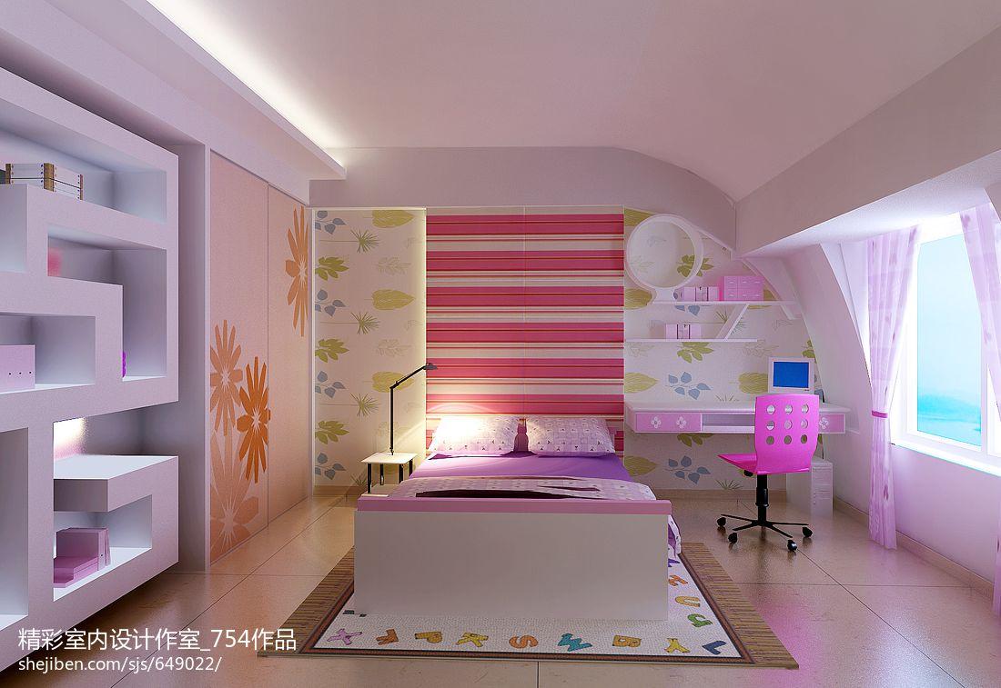 现代儿童房壁纸效果图