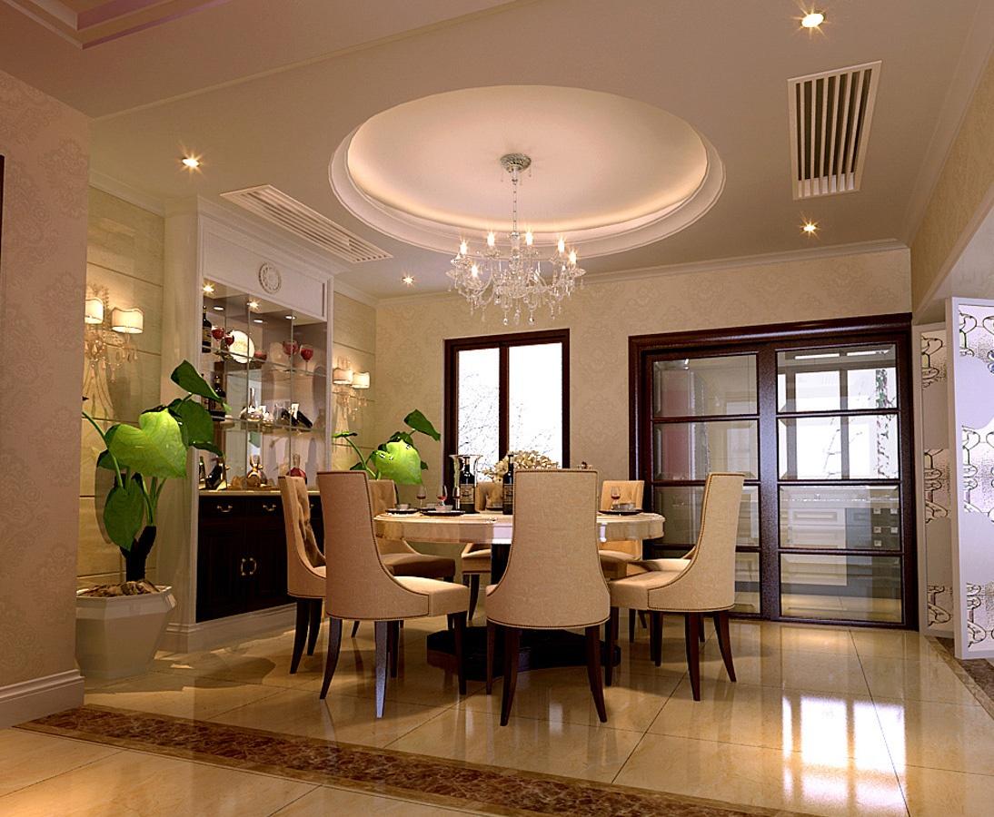 餐厅圆形吊顶设计效果图欣赏