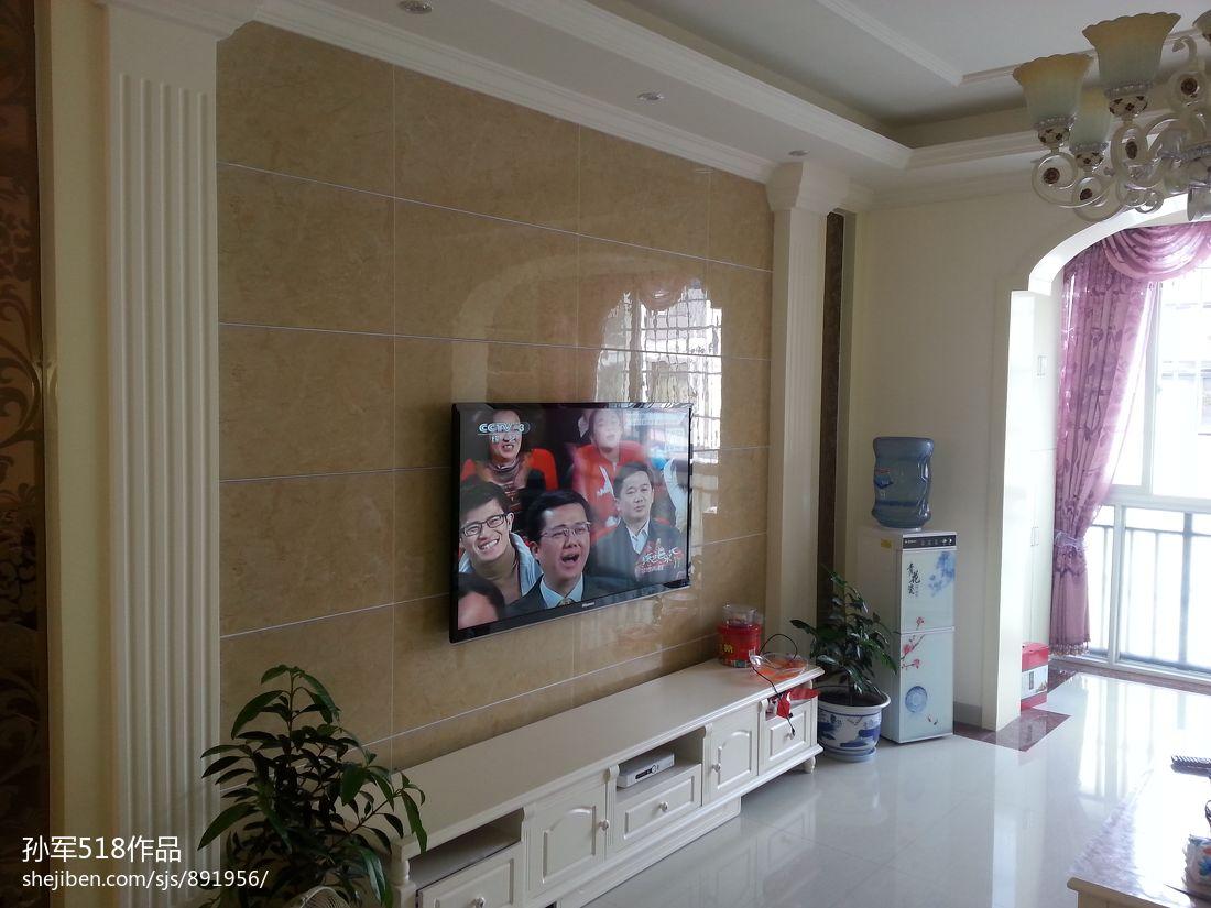 欧式大理石瓷砖背景墙效果图