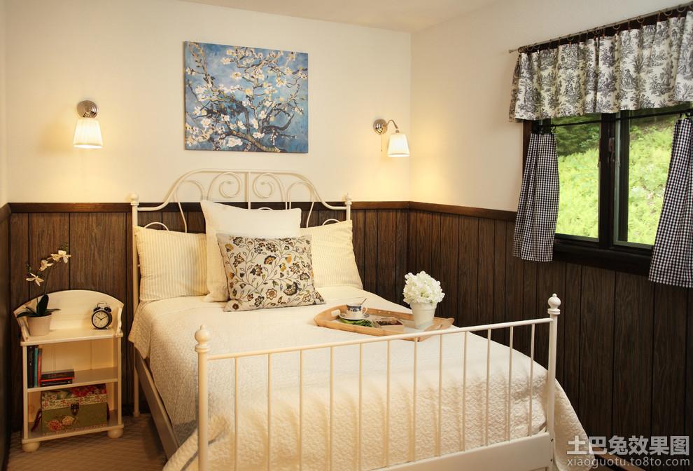 小卧室木墙裙装饰板图片