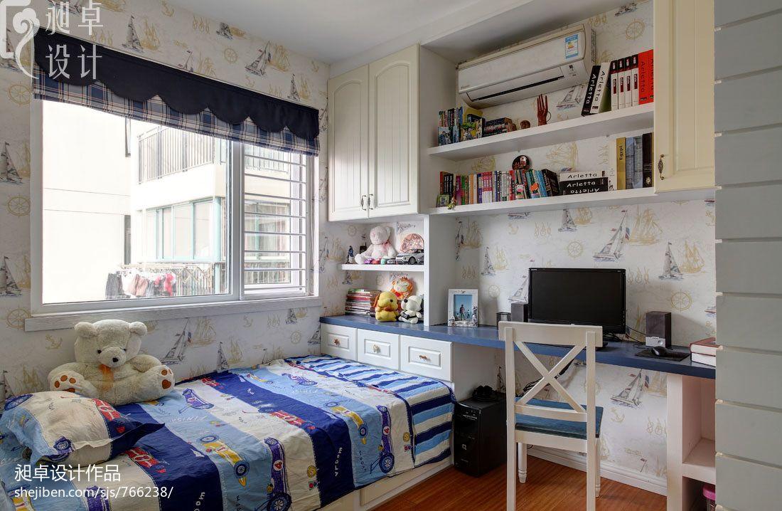 地中海风格书房带床装修效果图图片
