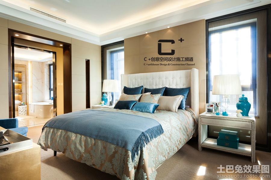 欧式卧室床头台灯装修效果图图片