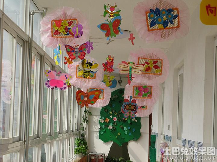 幼儿园小班吊饰布置图片