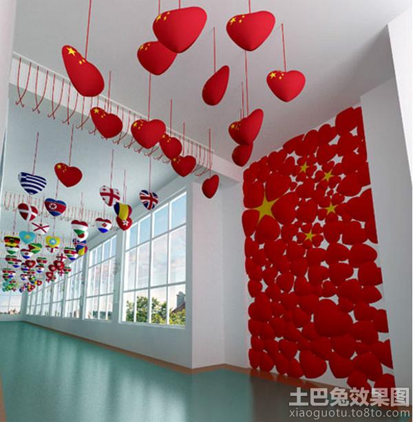 幼儿园走廊吊饰布置设计图片