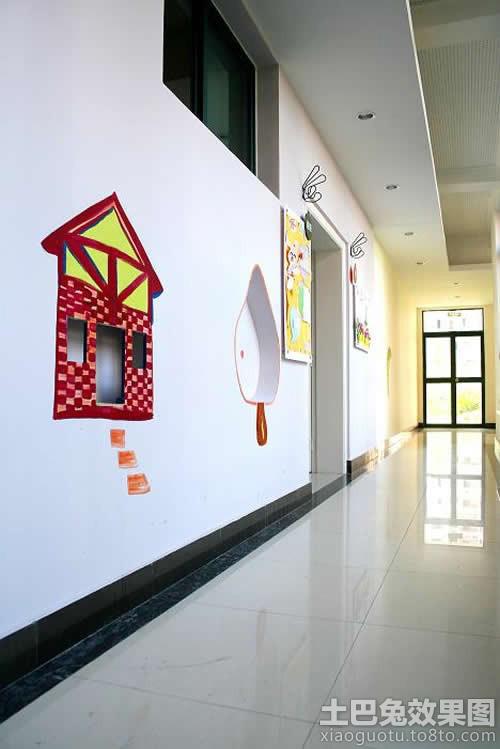 幼儿园走廊墙面设计效果图