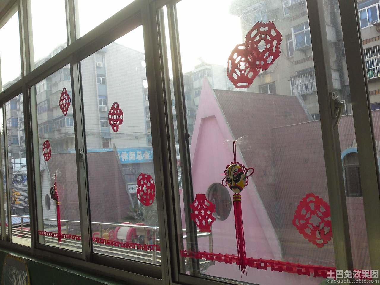 幼儿园窗户装饰布置图片