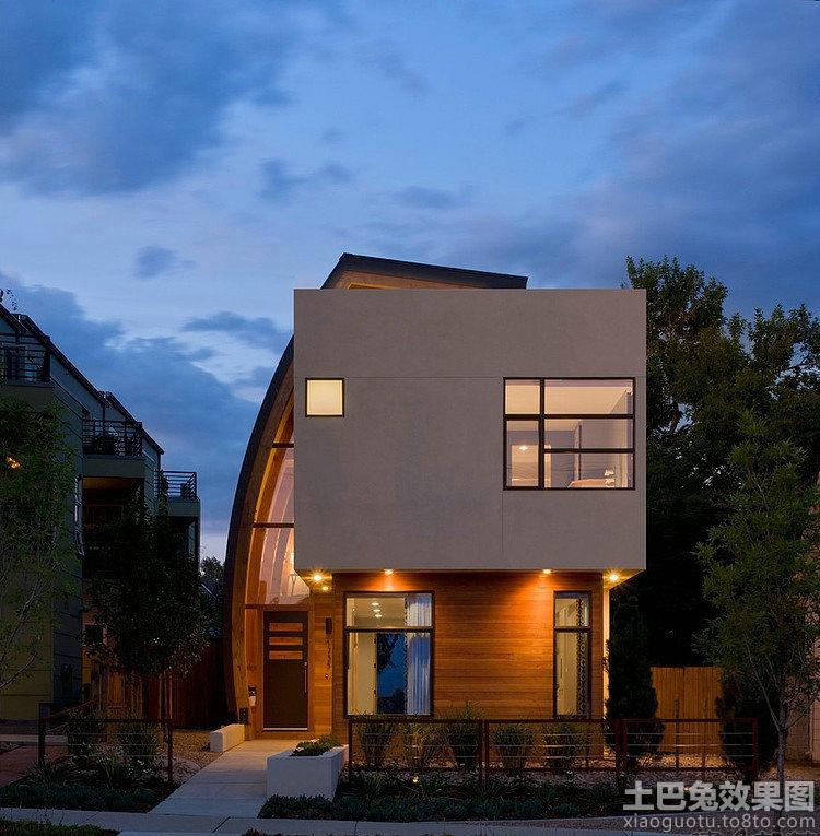 现代三层别墅外观设计图展示