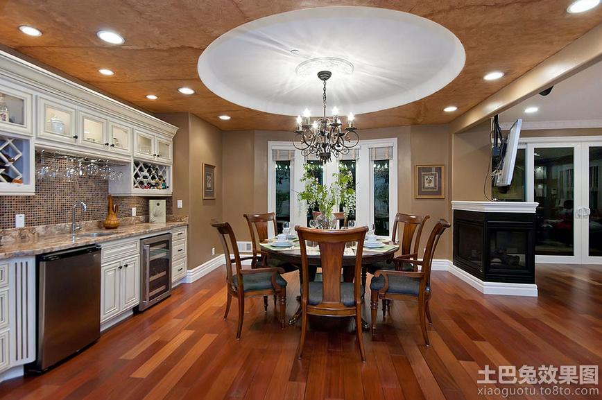 别墅 美式 厨房设计效果图欣赏