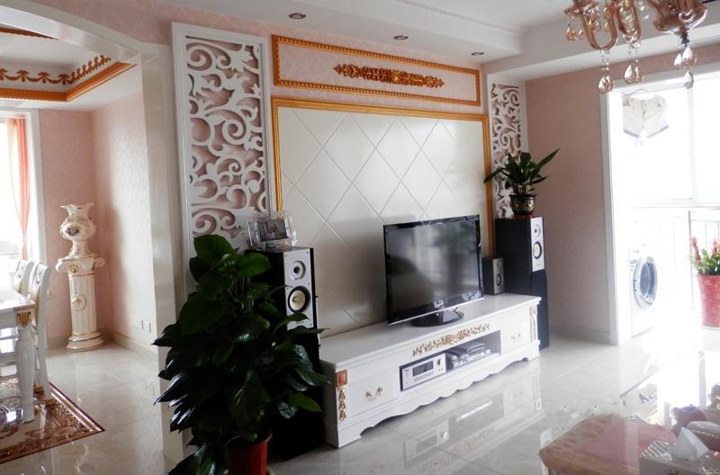 欧式电视柜背景墙装修效果图大全2013