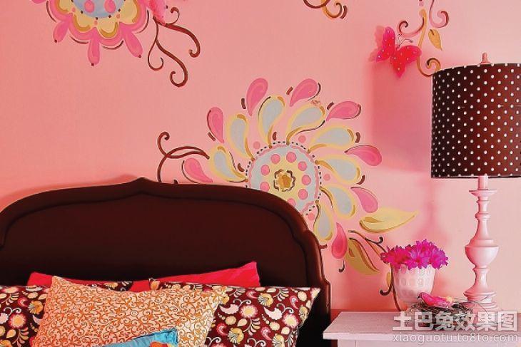卧室手绘壁画效果图