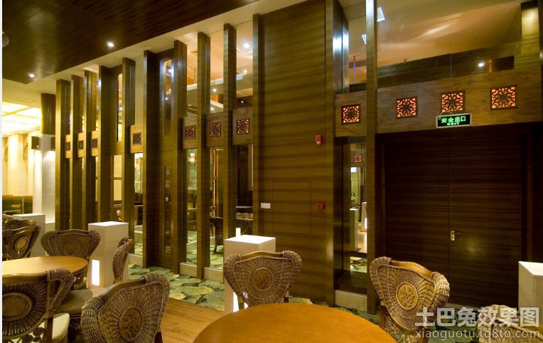 中式饭店装修效果图欣赏
