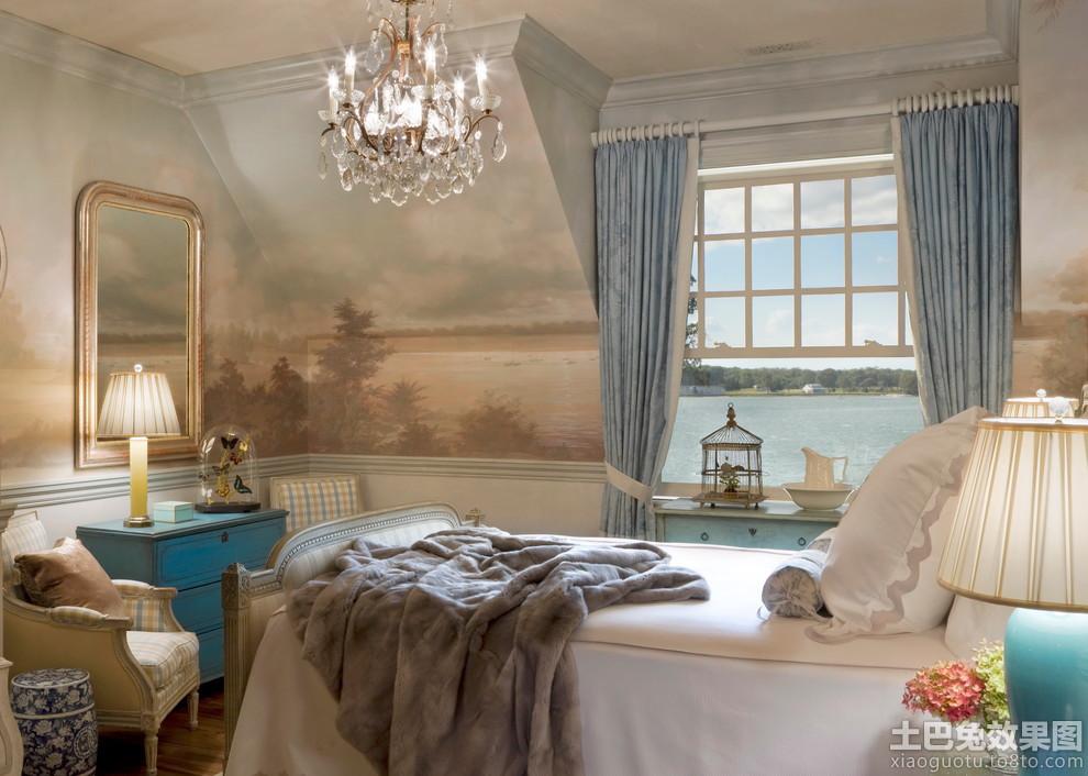 小卧室欧式壁画图片