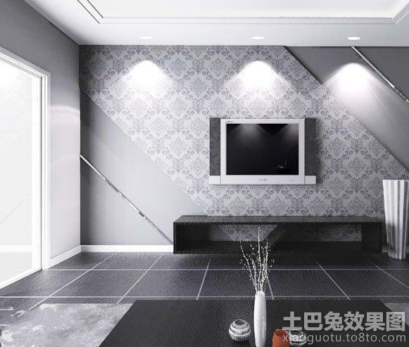 现代风格电视机背景墙墙纸