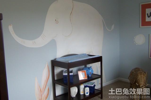 儿童房简单手绘壁画图片