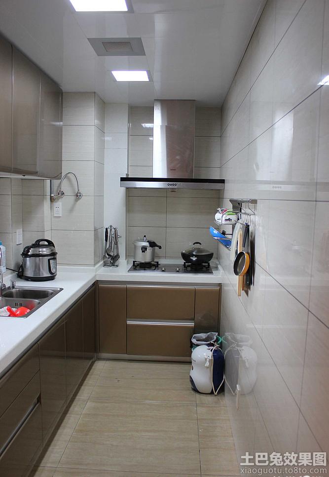 狭长型小厨房欧派橱柜效果图 - 装修效果图 - 九正
