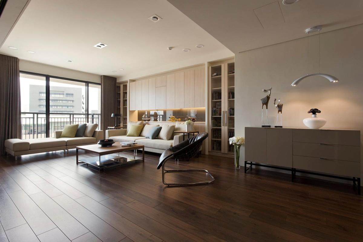 简约一居室客厅木地板贴图