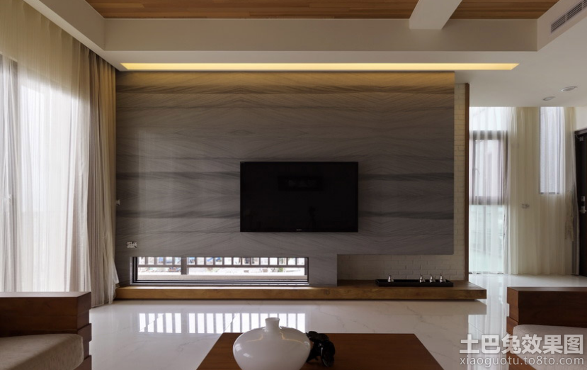 客厅电视背景墙人造大理石图片