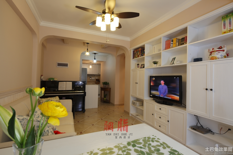 客厅组合电视柜背景墙效果图