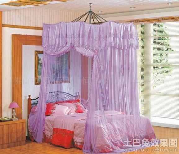 简约美式卧室宫廷蚊帐图片