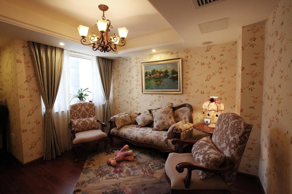 美式客厅吊顶装饰效果图图片