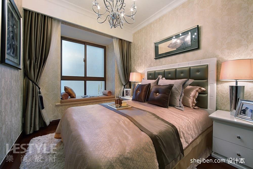 欧式风格主卧室飘窗装饰效果图图片