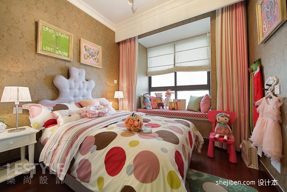 时尚女孩房飘窗装饰效果图片