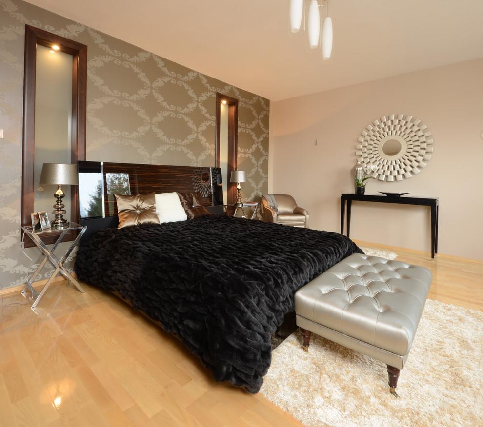 现代卧室木地板装修效果图