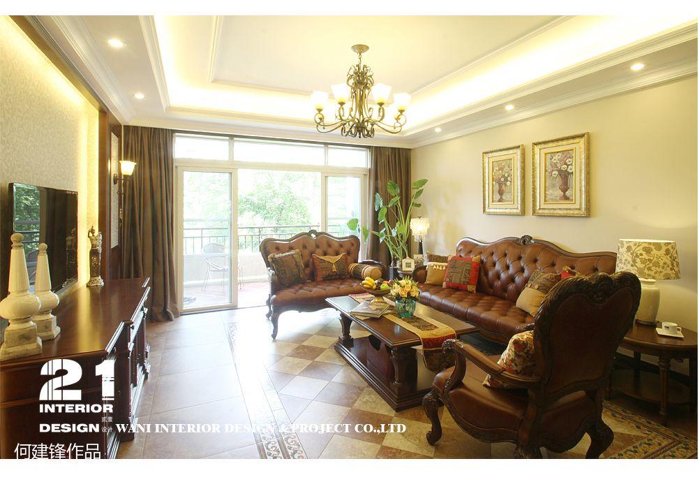美式風格客廳吊頂裝修圖片
