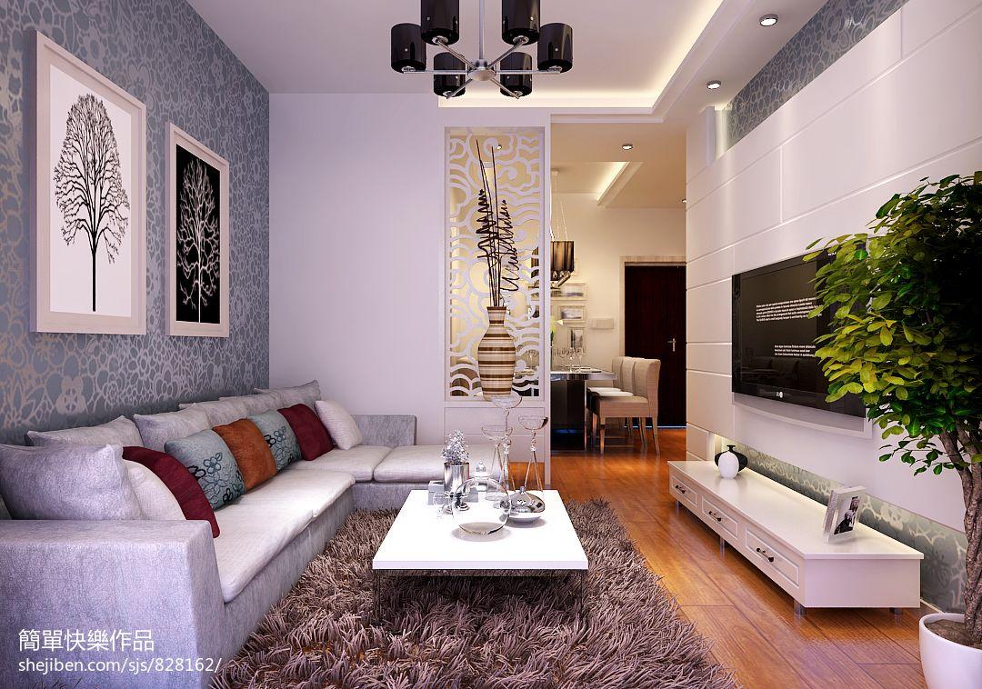 现代简约客厅木地板装修效果图