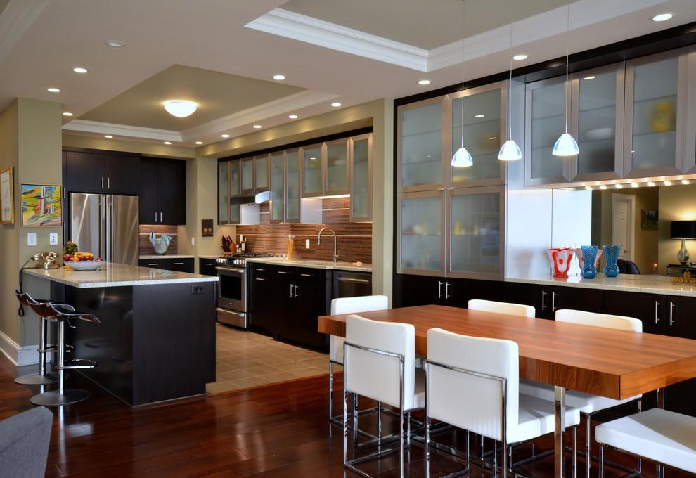 厨房餐厅木地板装修效果图