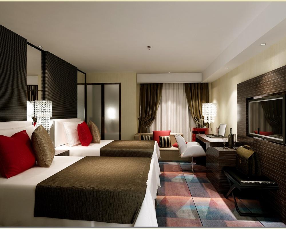 酒店房间设计图 - 装修效果图