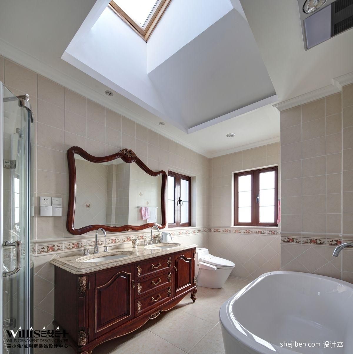 中式卫生间效果图图片
