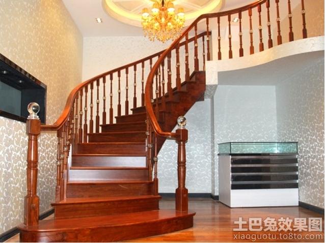 复式楼实木旋转楼梯设计图