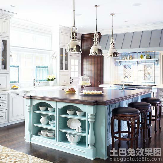 2013欧式开放式厨房装修效果图大全图片