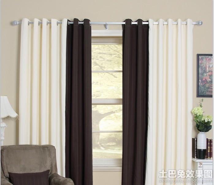 客厅罗马杆窗帘效果图