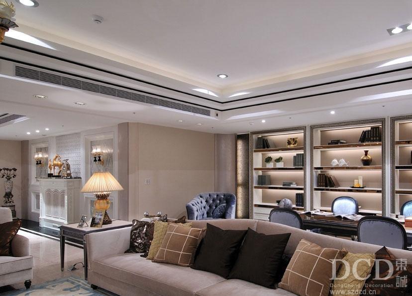 现代简欧客厅沙发装修效果图