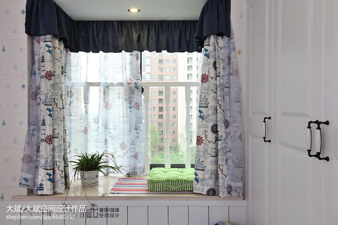 飘窗窗帘装修效果图片大全