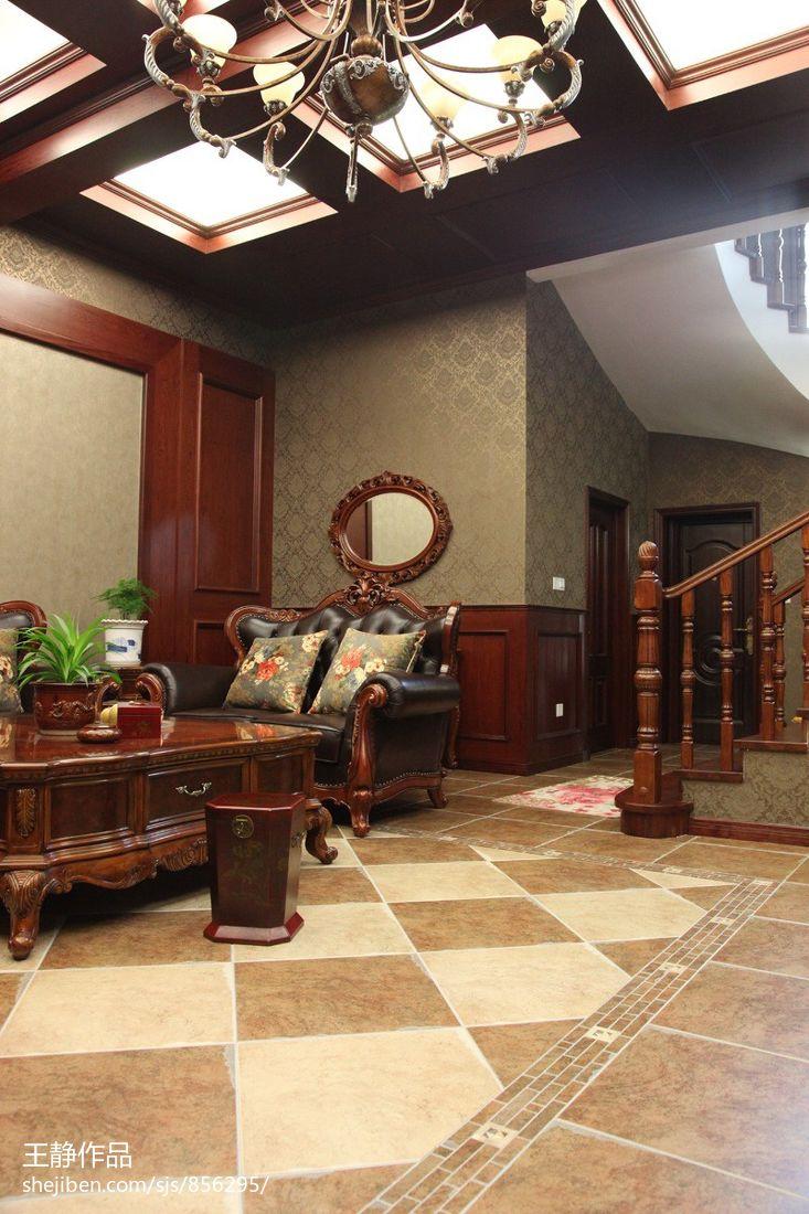 美式别墅室内装修效果图图片