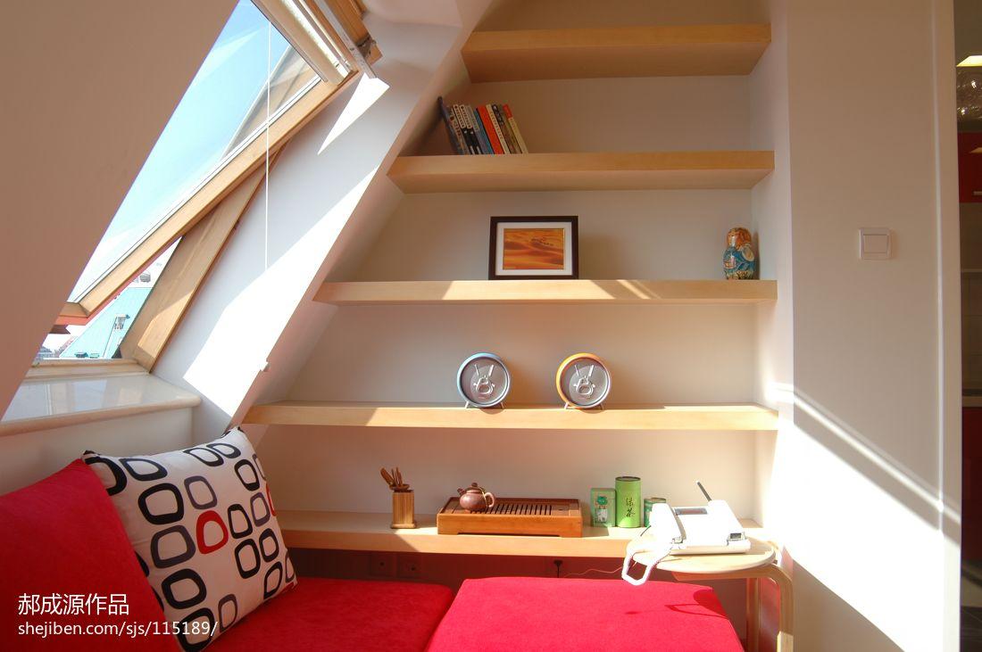 小户型斜顶阁楼装修设计图