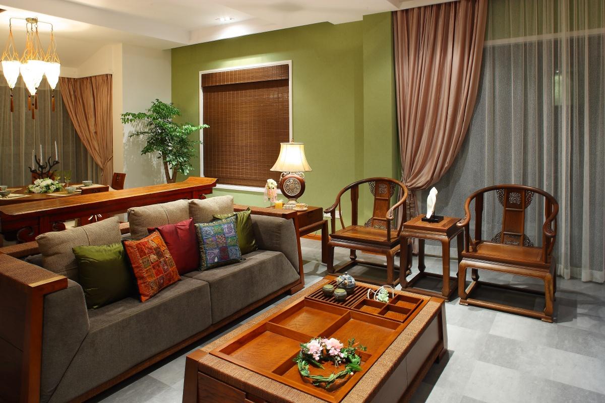 中式家居客厅装修效果图