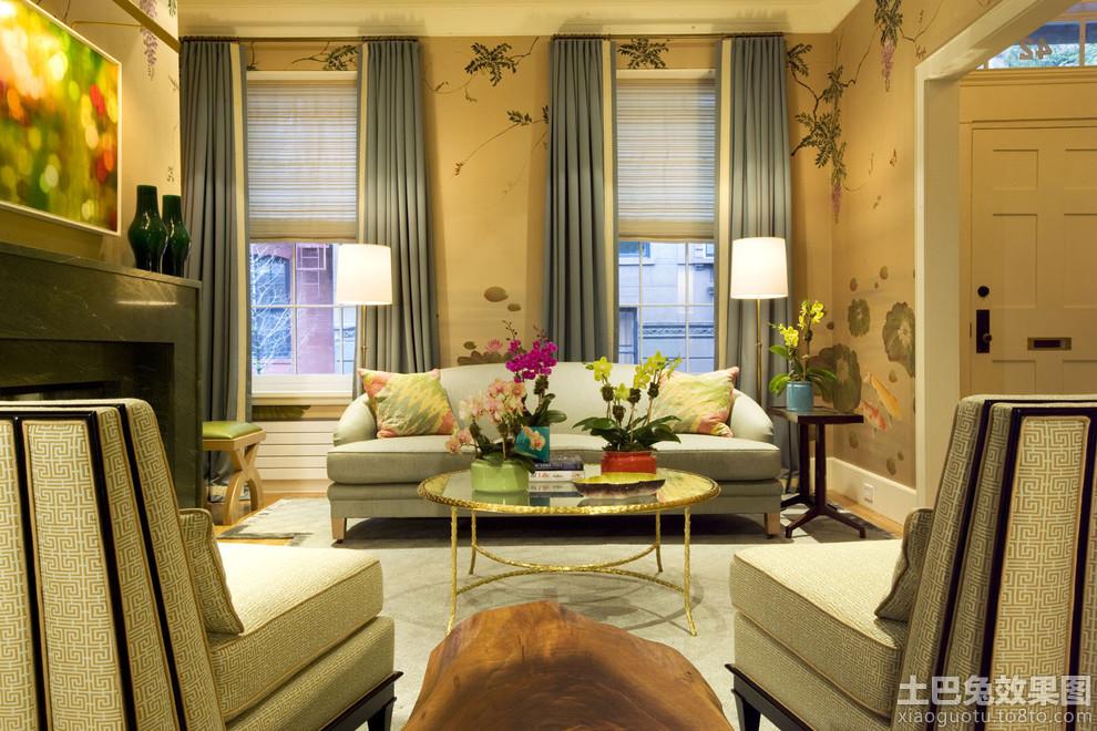 客厅环保壁纸图片 - 装修效果图